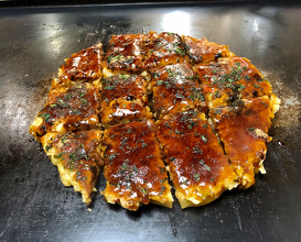 Okonomiyaki with everything