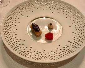 "Le Crabe ""Kegani"" En Frivolité Au Covlar  -  kegani crab prepared au court-bouillon served in a roll of feuille de brick with caviar"