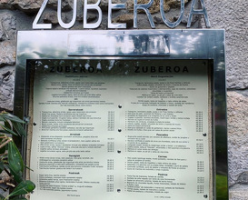Dinner at Zuberoa