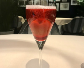 Champagne cocktail with Japanese Apple
