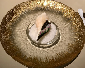 ODE TO CONCH Seaweed Jelly with Cauliflower Purée and Conch