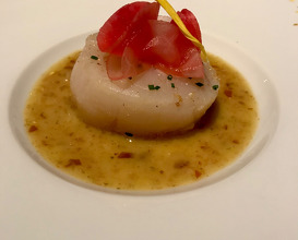 ODE TO KUMQUAT Warm Sea Scallop accompanied by Aged Kumquat Grenobloise-Style Sauce