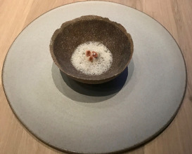 Oyster - porridge, goat milk and cured lamb fat
