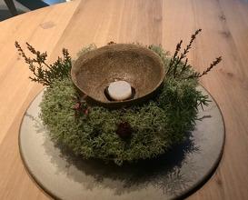 Pollack - birch bark oil with a silky forest undergrowth sauce