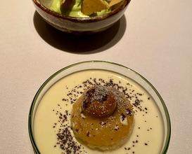",,Tokyo Banana"" Coriander, Mirin sabayon, black sesame & passionfruit"
