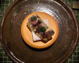 Pork rind and smoked eel