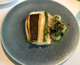 Catch of the day - sea bass Gherkin / sea lavender / pepper