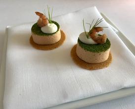 TOMATO rocket salad · shrimp