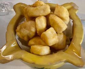Merluza with false mayonnaise