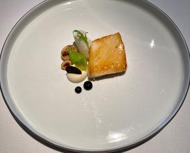 Cornish turbot celeriac, black truffle, hazelnut, jus gras