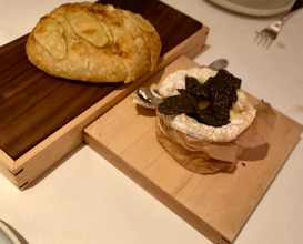 TRIPLE CRÈME Baked with Black Truffle, Honey, and Potato Bread