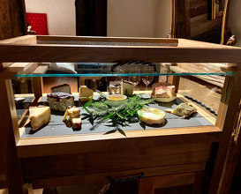Cheese and beautiful cheese trolley
