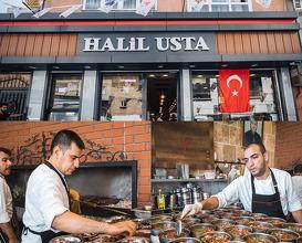 Dinner at Kebapcı Halil Usta