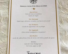 Dinner at Restaurante Venta Los Atanores