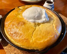 Quiche and pancakes at teahouse Sakura in Kanazawa