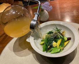 """Dinner at エルバ ダ ナカヒガシ """"erba da nakahigashi"""""""