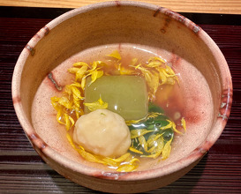 Takiawase Winter melon,scallop,white fish paste