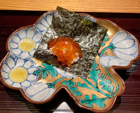 Oshinogi Salmon roe, seaweed and rice