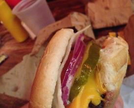 Dinner at burger joint at Le Parker Meridien