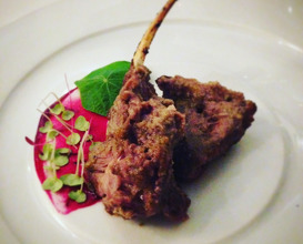 Best memory: Free range lamb chops sous vide, grilled and finished with almond saffron oil