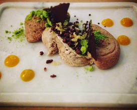 I Love Chocolate: Five acts of chocolate in different textures and tastes plated at the table by our dessert team
