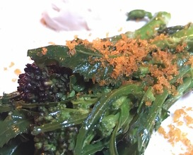 Tender stem broccoli with bottarga