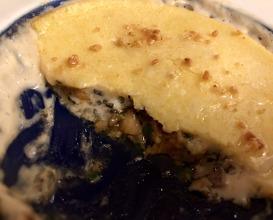 Another mushroom dish gratinated with polenta