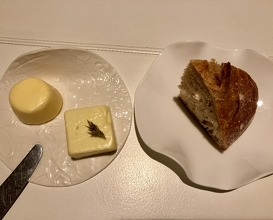 Bread with salted and unsalted butter