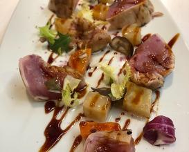Iberian pork tataki with pickled apionabo