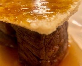 Cardoon main ribs with artichoke and black garlic