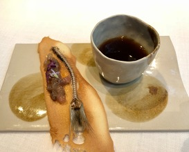 """Sando/ina"", garum style sardine tartar on toast with ""escalibada"""