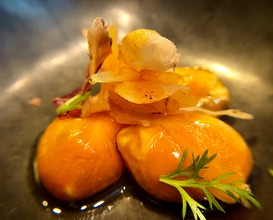 """Mussels in carrot """"escabeche"""""""