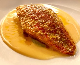 Red mullet with boullabaise sauce