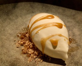 Brown butter ice cream, molasses and roasted hazelnuts