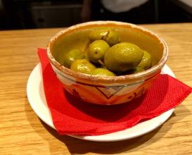 Olives on arrival