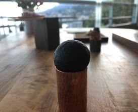 Deep fried smoked mozzarella sphere