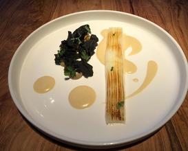 Bordighera squid, Bagna Cauda sauce (to be eaten like pasta)
