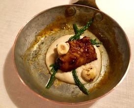 Eel and cauliflower pan