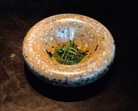 Snow peas, mustard broth, chervil