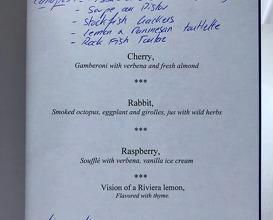Final menu