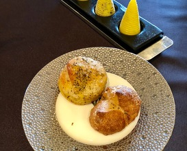 Bread with seaweed butter and salted butter