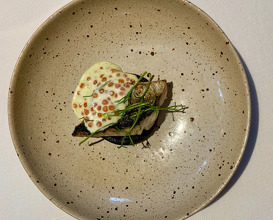 Mackerel\ Beetroot   Crème Fraîche