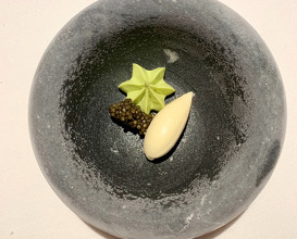 Zacapa Rum Ice Cream   Caviar   Avocado
