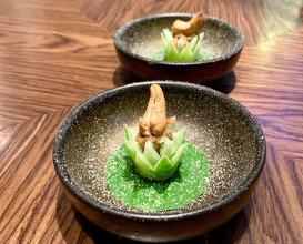 Pla-grouper (พล่าปลาเก่า) - Cashew nuts/fish sauce/banana flower