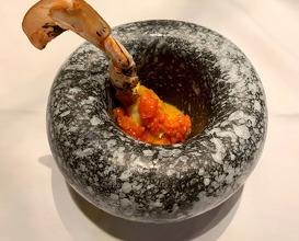 Gems on crab stick (กรรซูเปีย)-Crab/crab roe/yellow chili