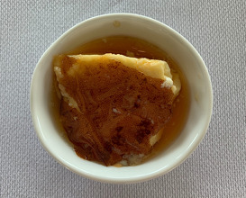 Grandmother's custard dessert