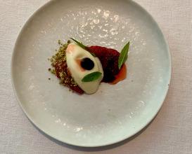 Strauberry I Cream | Balsamicl Pistachios