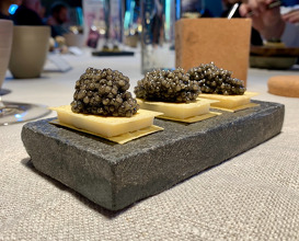 Caviar and goat's butter