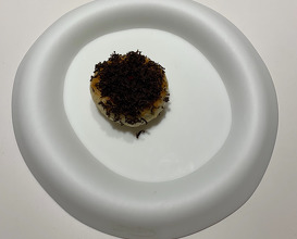 """6. Steamed Cheese """"Naan"""" With Truffle, Corn And Acidulated Parmesan Cheese"""