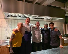 End of service with Nuno Mendez, Gareth Ward, Eduardo Pellicano and Hayley
